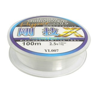 Unique Bargains Unique Bargains 109Yds/100M 0.26mm 24.2 lbs Nylon Spool Fishing Line