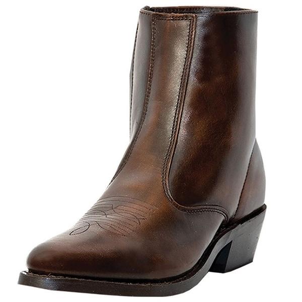 Laredo Western Boots Mens Long Haul Zip Trucker Antique Brown