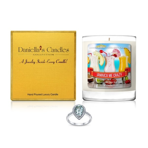 Daniella's Candles Jamaica Me Crazy Jewelry Candle, Ring Size 9
