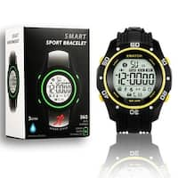 Indigi® Rugged Sports Waterproof Bluetooth 4.0 Watch w/ Pedometer + StopWatch + Smart Alarm + Remote Shutter