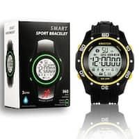 Indigi® Waterproof Bluetooth 4.0 Sports X-Watch + Call Notification + SMS Notification + Pedometer + 1 Year Battery