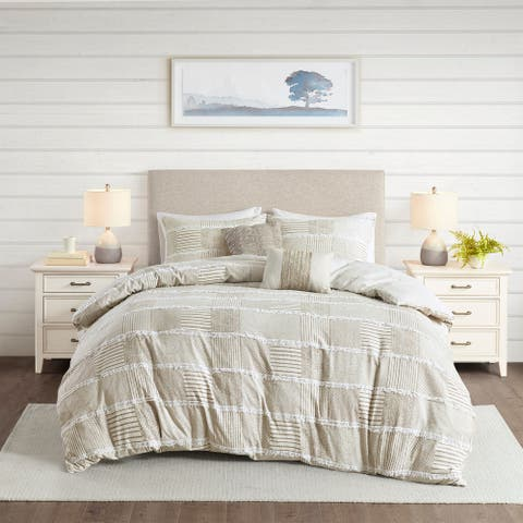 Madison Park Aiden 5 Piece Cotton Clipped Comforter Set