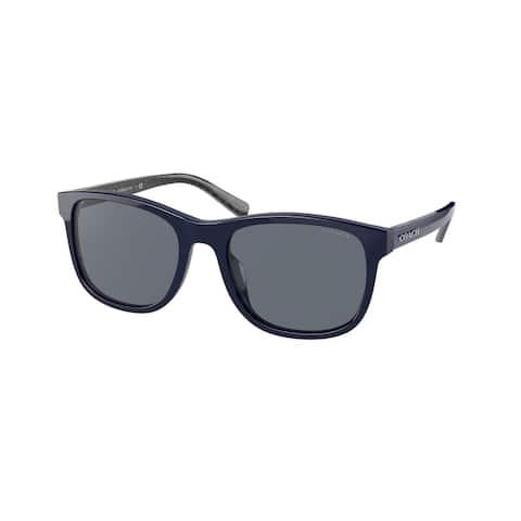 Coach HC8283U 563555 55 Navy Man Rectangle Sunglasses