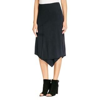 DKNY Womens Asymmetrical Skirt Layered Jersey - S