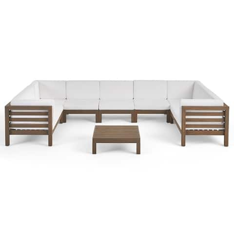 Oana Outdoor Acacia Sectional Sofa Set by Christopher Knight Home