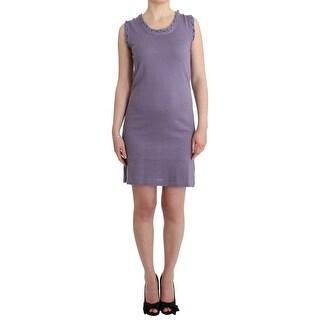 Galliano Galliano Purple cotton jersey dress