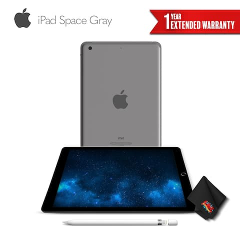 Apple 9.7 Inch iPad 128GB (Wi-Fi Only) Space Gray + Apple Pencil