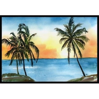 Carolines Treasures 8551MAT 18 x 27 in. Palm Tree Scene Indoor Or Outdoor Mat