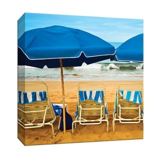 """PTM Images 9-147659  PTM Canvas Collection 12"""" x 12"""" - """"Bright Beach III"""" Giclee Beaches Art Print on Canvas"""