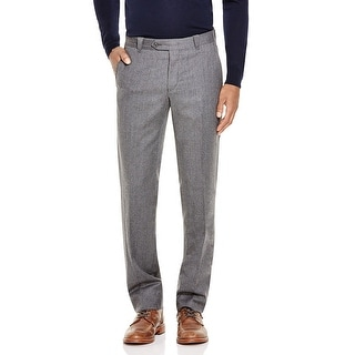 Bloomingdales Mens Wool and Cashmere Flat Front Dress Pants Gray 40x34 - 40