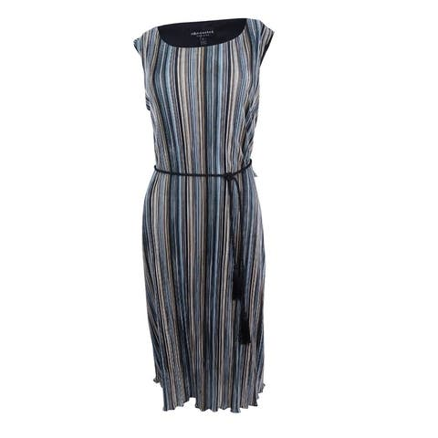 Connected Women's Tassel belt Stripe Shift Dress