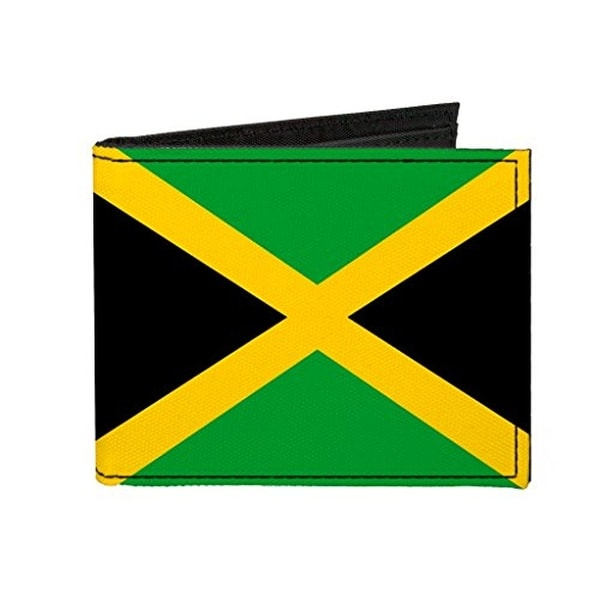 Buckle-Down Canvas Bi-fold Wallet - Jamaica Flag Accessory