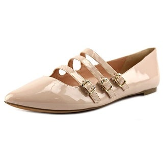 Sole Society Emmy Women Pointed Toe Patent Leather Nude Flats