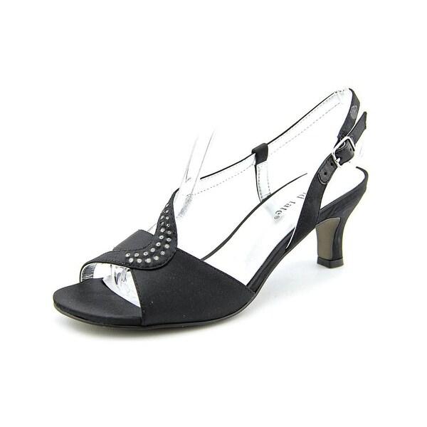 David Tate Crescent Women Black Sandals
