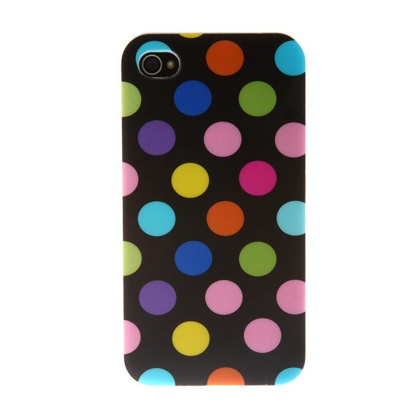 Silicon Cover iPhone 5 / 5S - Polka - Black Multi