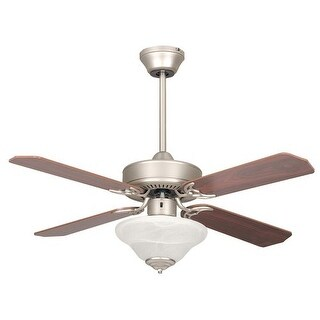 Concord 42HES4E 4 Blade 42 Inch Heritage Square Indoor Ceiling Fan with Bowl Fan Light Kit