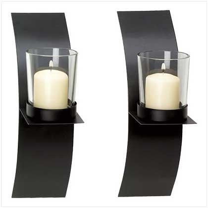 Modern Art Candle Sconce Duo. Opens flyout.