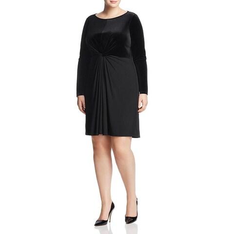 MICHAEL Michael Kors Womens Plus Party Dress Velvet Knee-Length
