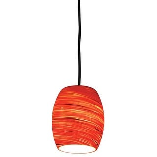 Design House 505768 Single Light Down Lighting Pendant with Red Hot Glass from the Art Glass Collection