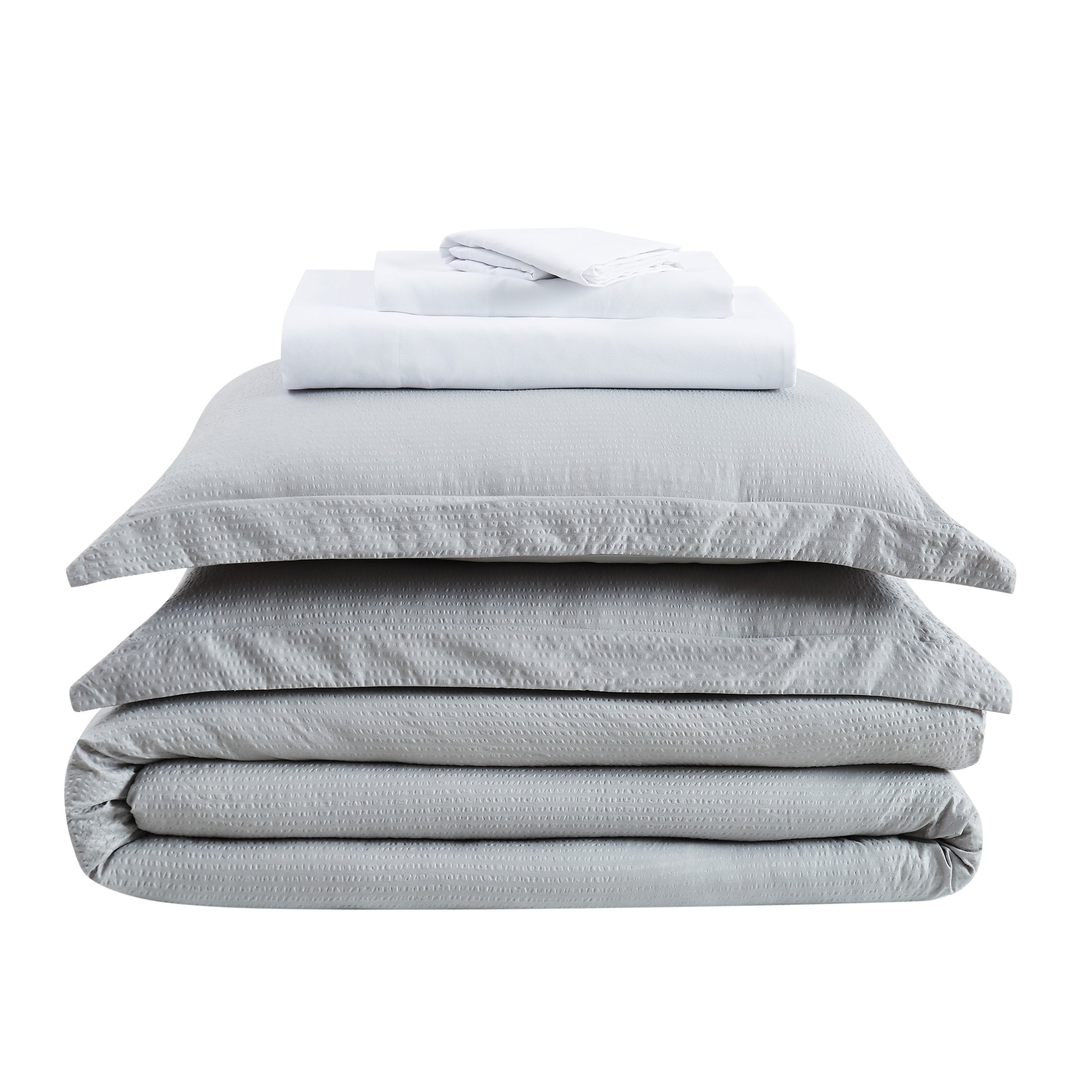 Truly Calm Antimicrobial Seersucker 7 Piece Bed In A Bag Overstock 31859496