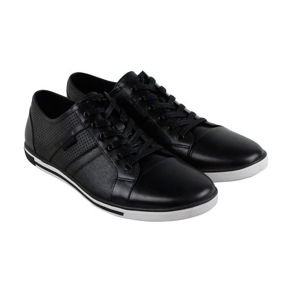 aa8f826da7f Shop Kenneth Cole New York Initial Step Mens Black Leather Sneakers ...