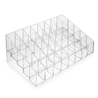 Acrylic Lipstick Organizer Stand - 40 Slot Cosmetic Display Makeup Case - Clear