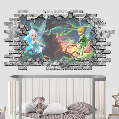 Fairy Wall Decal. 3D Mural Hole in Wall Vinyl Sticker