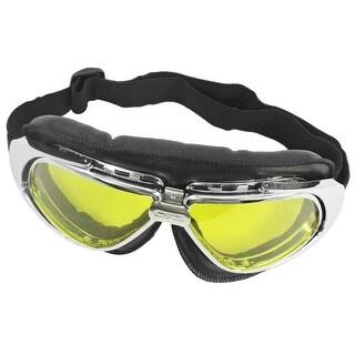 Unique Bargains Lady Men Outdoor Activity Adjustable Strap Ski Goggles Eye Protector