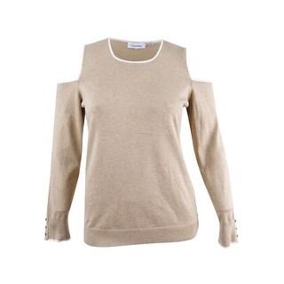 Calvin Kleins Women's Cold-Shoulder Sweater