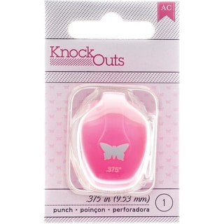 """Knock Outs Mini Punch-Butterfly, .375"""""""