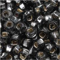Czech Seed Beads 8/0 Silver Lined Black Diamond (1 Ounce)