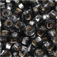 Czech Seed Beads 8/0 Silver Lined Black Diamond (1 Ounce)