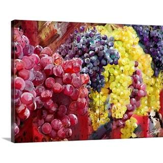 """Grapes"" Canvas Wall Art"