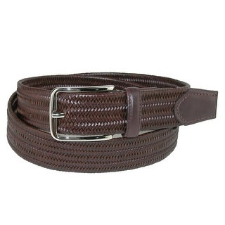 Aquarius Men's Stretch Leather Braided Belt