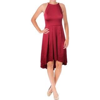 Aqua Womens Cocktail Dress Halter Hi-Low Hem