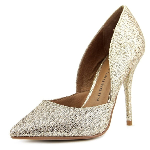 Chinese Laundry Stilo Women Pointed Toe Synthetic Gold Heels