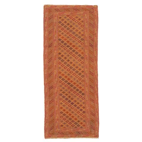 ECARPETGALLERY Hand-knotted Tajik Caucasian Tan Wool Rug - 2'5 x 6'2