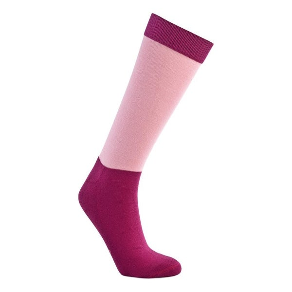 Old West Socks Womens Over The Calf Reinforced Cushioned Pink