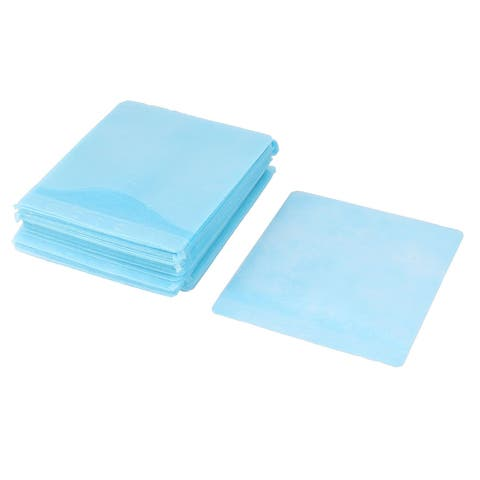 99pcs Double Sided CD Discs Carry Bag Storage Case Holder Organizer Sky Blue