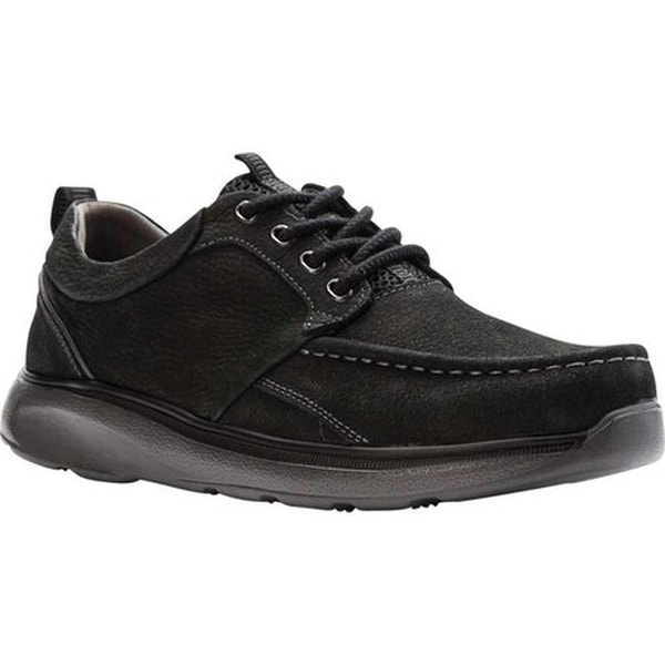 Propet Men's Orson Oxford Black Tumbled Leather