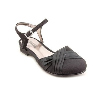 Kenneth Cole Reaction Kids Sweet Gleam 2 Youth Open Toe Canvas Black Sandals