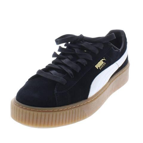 Puma Womens Platform Core Casual Shoes Suede Low Top