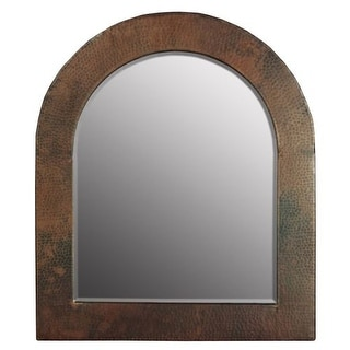 "Native Trails CPM64 Sedona Rectangular 26""H x 22""W Beveled Copper Mirror with Rounded Top"