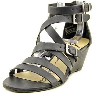 American Rag Carlin Women Open Toe Synthetic Black Wedge Sandal