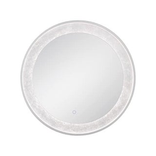 "Eurofase Lighting 33832 30"" x 30"" Circular Flat Lighted Vanity Mirror with Custo - N/A"