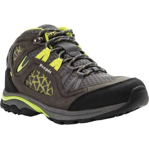 Propet Women's Peak Hiking Boot Grey/Lime Mesh/Nubuck