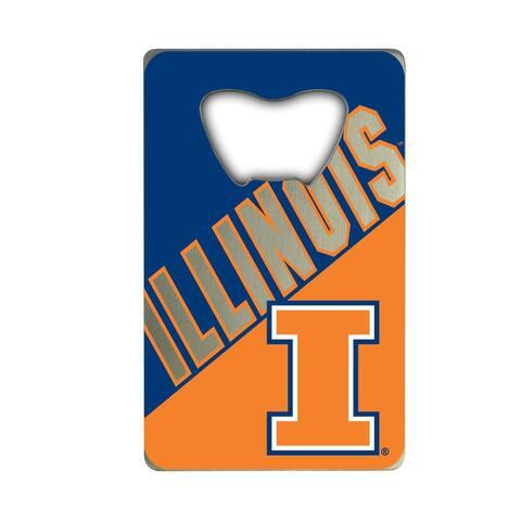 University of Illinois Metal Credit Card Bottle Opener - 2in. X 3.25in.