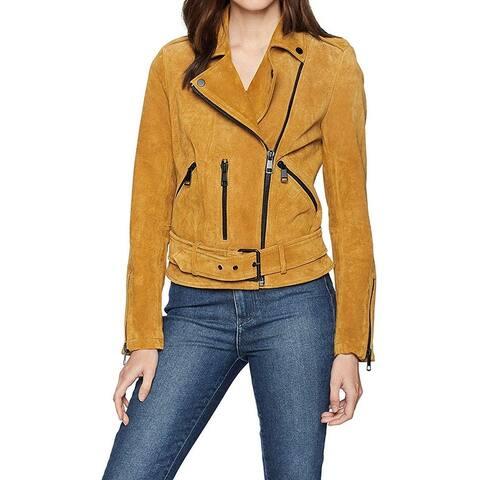 Bagatelle Women's Jacket Gold Size Medium M Motorcycle Leather