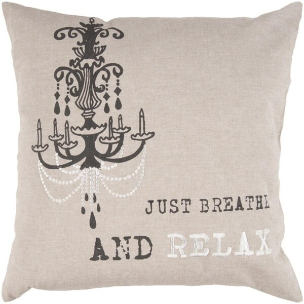 "22"" Victorian Chandelier ""Just Breathe And Relax"" Decorative Throw Pillow"