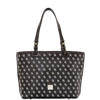 Dooney & Bourke Gretta Small Leisure Shopper (Introduced by Dooney & Bourke at $198 in Aug 2014) - Black Black|https://ak1.ostkcdn.com/images/products/is/images/direct/343f007a2598d9e780d3474bf4f9c4fc57d73f7e/Dooney-%26-Bourke-Gretta-Small-Leisure-Shopper-%28Introduced-by-Dooney-%26-Bourke-at-%24198-in-Aug-2014%29.jpg?_ostk_perf_=percv&impolicy=medium